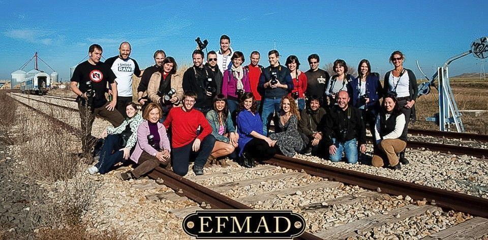 grupo de alumnos de la escuela de fotografía Madrid
