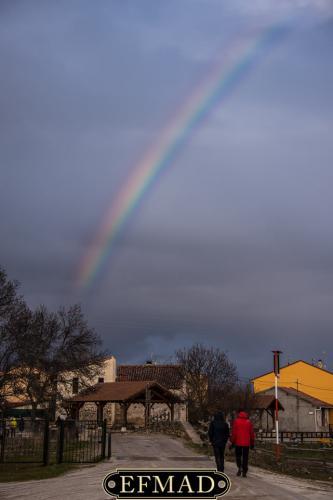arco iris en Pinilla del valle